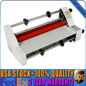 V350 13 350mm Hot Cold Roll Laminator Single dual Sided Laminating Machine New