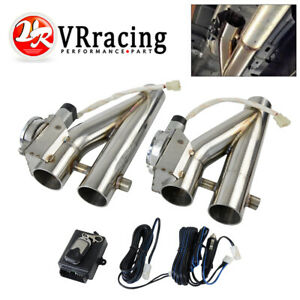 1set 2 25 Electric Exhaust Downpipe E Cutout Cut Out Dual Valve Remote Wireless