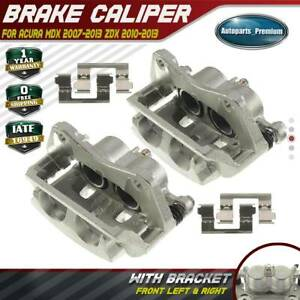 2pcs Brake Caliper With Bracket For Acura Mdx 07 13 Zdx 10 13 Front Left Right