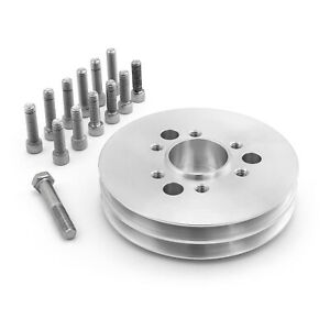Chevy Sbc 350 2v Supercharger 2 Groove Accessory Drive Pulley