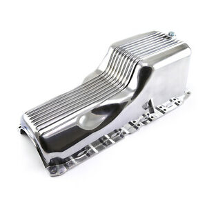 Chevy Bbc 454 1pc Gen 5 6 1991 Up Polished Finned Aluminum Oil Pan