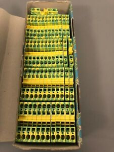 Phoenix Contact 50 Pieces St6 pe New In Box Feed Through Terminal Block