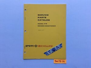 New Holland 478 Mower Conditioner 10 77 Service Parts Catalog