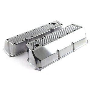 Ford 302 351c Cleveland Polished Aluminum Elite Valve Covers Tall W hole