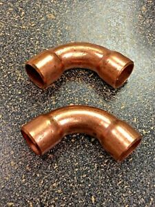 Copper Fitting Elbow For 1 2 O d Tubing Set Of 2 Refrigeration Grade