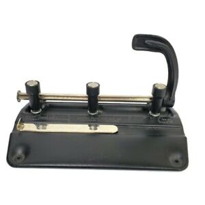 Steel 3 Hole Punch Vintage Master Products Mfg 5325 Made In Usa Paper Puncher