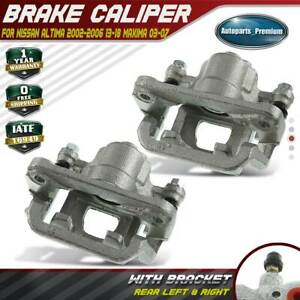 2x Brake Calipers For Nissan Altima 2002 2006 2013 2018 Maxima Rear Left Right