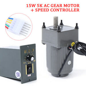 Us 110v 15w 5k Ac Gear Motor Electric Variable Speed Adj Controller Quick Ship