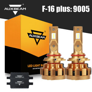 Auxbeam F 16 Plus 9005 Hb3 Led Headlight Kit Bulbs 70w 7000 Lm 6000k Super White