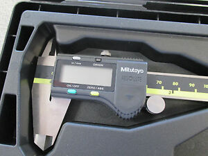 New Mitutoyo 6 Absolute Inch metric Digimatic Electronic Caliper 500 196 30