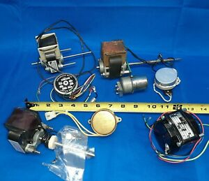8 Small Vintage Electric Motors Synchronous Japan Servo Barber A w Haydon