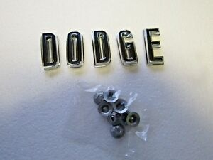 Mopar 67 Charger Coronet Dodge Hood Letters Emblems 1967 New