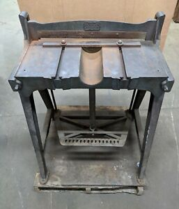 Peck Stow And Wilcox Co Foot Pedal Operated Antique Paper Shear