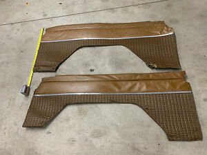 70 77 1970 1977 Early Ford Bronco Rear Interior Panels Brown Oem