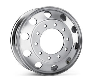 22 5 X 8 25 Aluminum Hd Truck Trailer Wheel Rims Hub Alcoa Style 10 Lug Polished