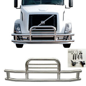 Deer Guard For Volvo Vnl 2004 219 Polishing Steel Front Bumper Grill Semi Truck