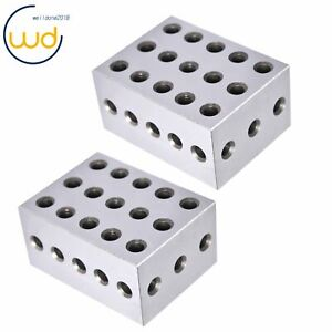 1 Matched Pair Ultra Precision 2 3 4 Blocks 23 Holes 0003 Precision Machinist