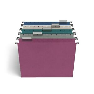 Tru Red Hanging File Folders 5 tab Letter Size Assorted Jewel Tone Colors