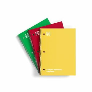 Tru Red 1 subject Notebook 8 X 10 5 College Ruled 70 Sheets Assorted Colors