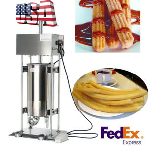 110v Commercial Auto Electric Churro Maker Machine Deluxe Stainless Steel 15l Us