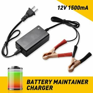 Car Battery Charger Maintainer Auto 12v Trickle Rv For Truck Motorcycle Atv D