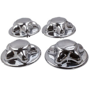 Set Of 4 Chrome Wheel Hub Cap Center Cover For Ford F150 Expedition Rim 97 04