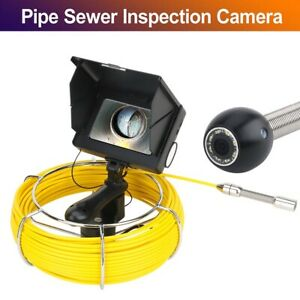 30m 5 Inch 17mm 1200tvl Handheld Drain Pipe Sewer Inspection Camera System