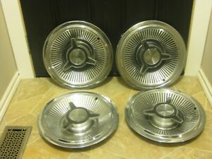 Vintage 1965 Pontiac Bonneville Full Disc 14 Inch Hub Caps Sold As Is As Used