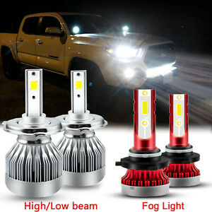 For Toyota Tacoma 05 11 6000k White Led Hi lo Beam Headlight Fog Light Bulb Kit