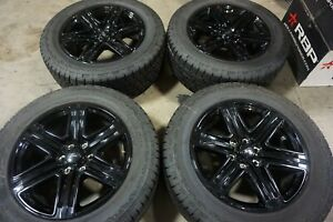20 Ford F150 Factory Oem Gloss Black Wheels Rims Hankook Tires Expedition