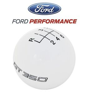 2016 2019 Shelby Gt350 Ford Performance 6 Speed Gear Shifter Shift Knob White