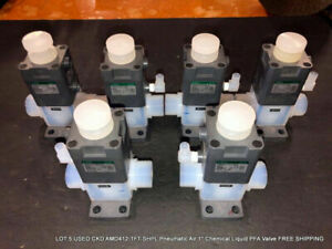 Lot Of 5 Used Ckd Amd412 1ft shpl Pneumatic Air 1 Pfa Valve Free Shipping