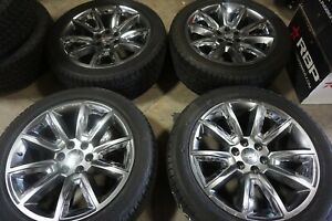 22 Chevy Suburban 1500 Factory Oem Silver Wheels Rims Tires Tahoe 5696
