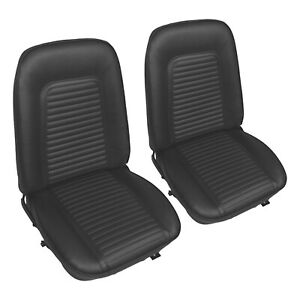 Pui 1969 Chevrolet Camaro Standard Black Front Bucket Seat Covers 69fs10u