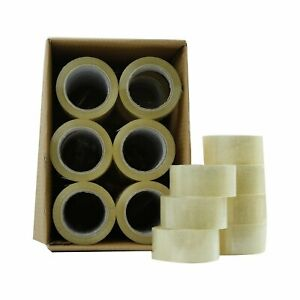 36 72 Rolls Clear Packing Packaging Carton Sealing Tape 2 X 110 Yards Box