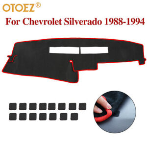 Eco friendly Fabric Car Dashmat Dashboard Cover For Chevrolet Silverado 1988 94