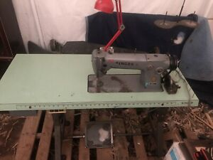 Vintage Singer 281 1 Industrial Sewing Machine With Table Motor