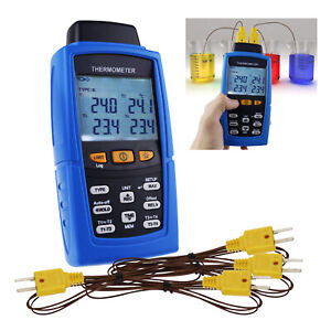 4 channel K J T E R S N Type Thermocouple Thermometer T1 t2 T3 t4 Input