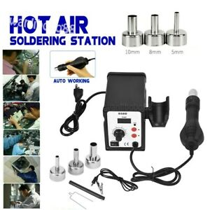 700w 858d Electric Hot Air Heat Gun Soldering Station Desoldering Tool Led Usa