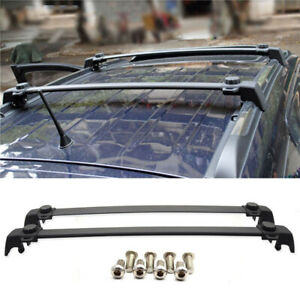Black Roof Rack Cross Bar Abs Aluminum Fit 11 16 Jeep Compass Oe Factory Style