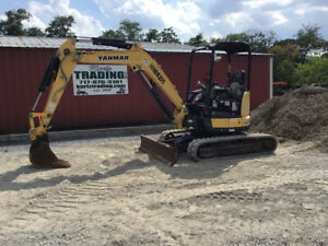 2016 Yanmar Vio35 6a Hydraulic Mini Excavator Very Clean Only 1900 Hours