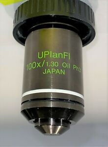 Olympus 100x Uplanfl 1 30 Ph3 Phase Contrast Oil Immersion Microscope Objective