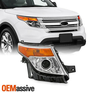Fits 2011 2015 Ford Explorer Chrome Right Pasenger One Side Projector Headlight