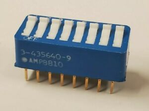 tube Of 14 Dip Switch 3 435640 9 Spst Dip Switch 8 position Through Hole