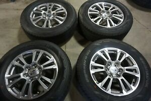 18 Ford Expedition Factory Oem Gray Machined Wheels Rims Hankook Tires 10001