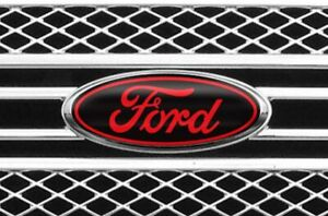 New Fits Various Ford Models Black Red Logo Overlay Decal Front Read The Ad