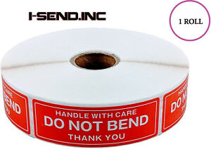 1000 Per Roll 1x3 Do Not Bend Stickers Labels Easy Peel And Apply