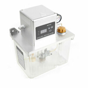 4l Lubrication Pump Cnc Digital Electronic Timer Lcd Automatic Oiler 25w Used