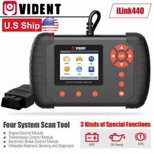 Usa Ship Vident Ilink440 4 System Scan Tool For Engine Abs Air Bag Srs Epb Reset
