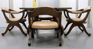 Beautiful Walnut Hispania Dining Table With Four Chairs By Drexel